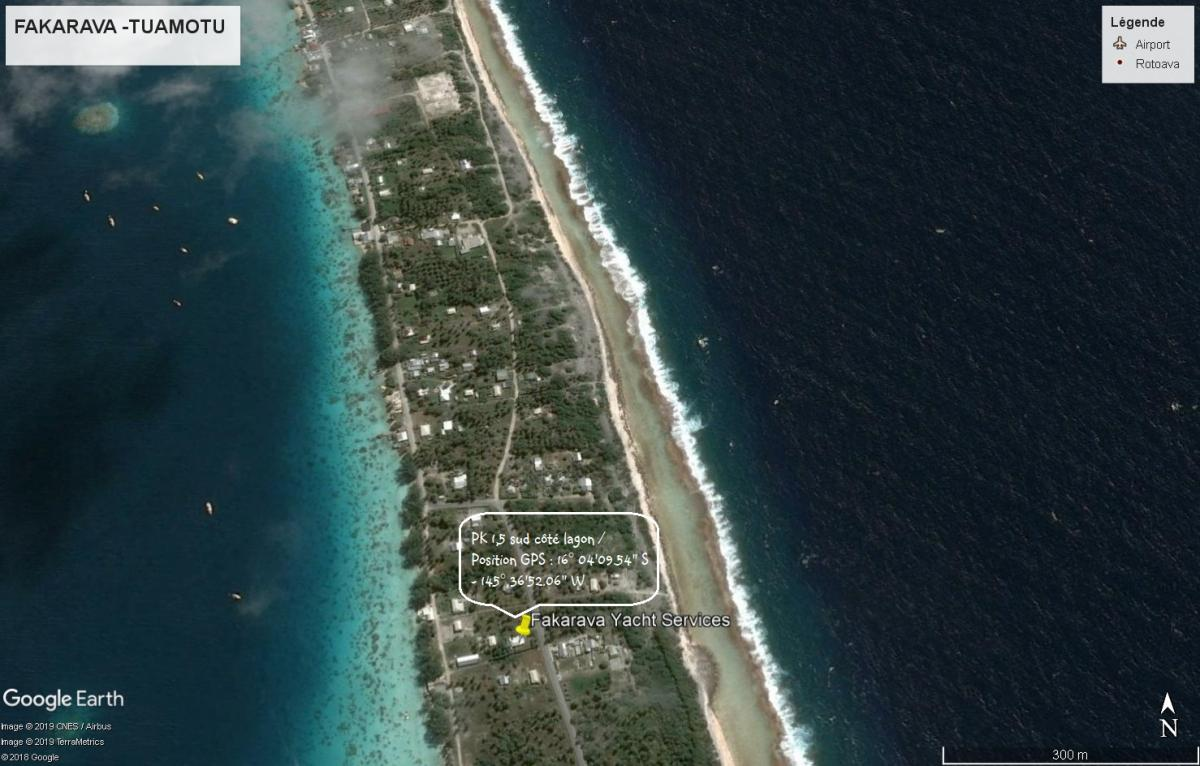 Map Fakarava Yacht Services